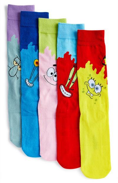 Pack pares meias sortidas Spongebob