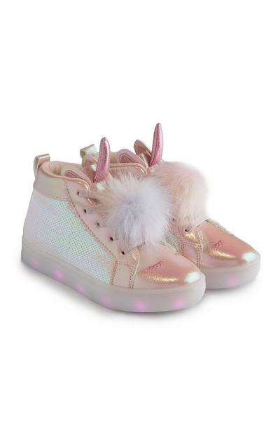 Pink Light Up Unicorn Sneakers
