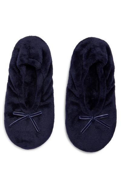 Marineblaue Soft Touch Ballerinas