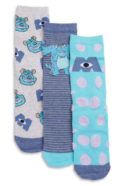 Pack de 3 pares de calcetines de Monstruos Inc