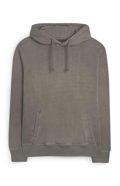 Sweat à capuche gris Premium