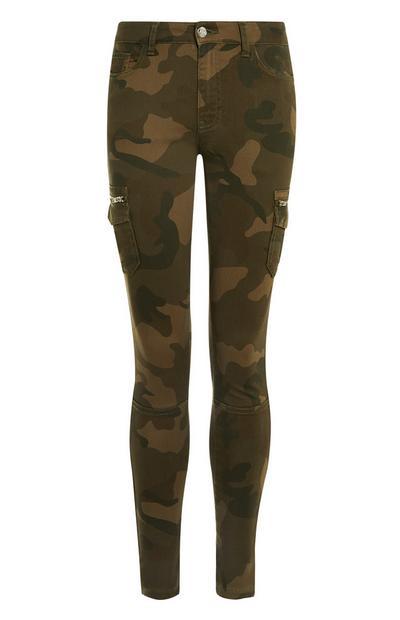 Skinny Cargo Camo Trousers