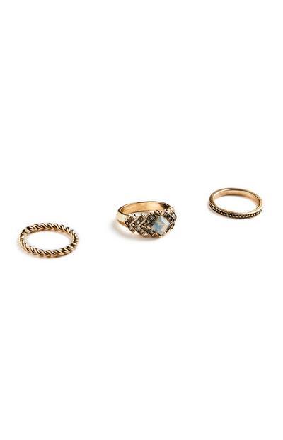 Zlati prstani, 3 kosi