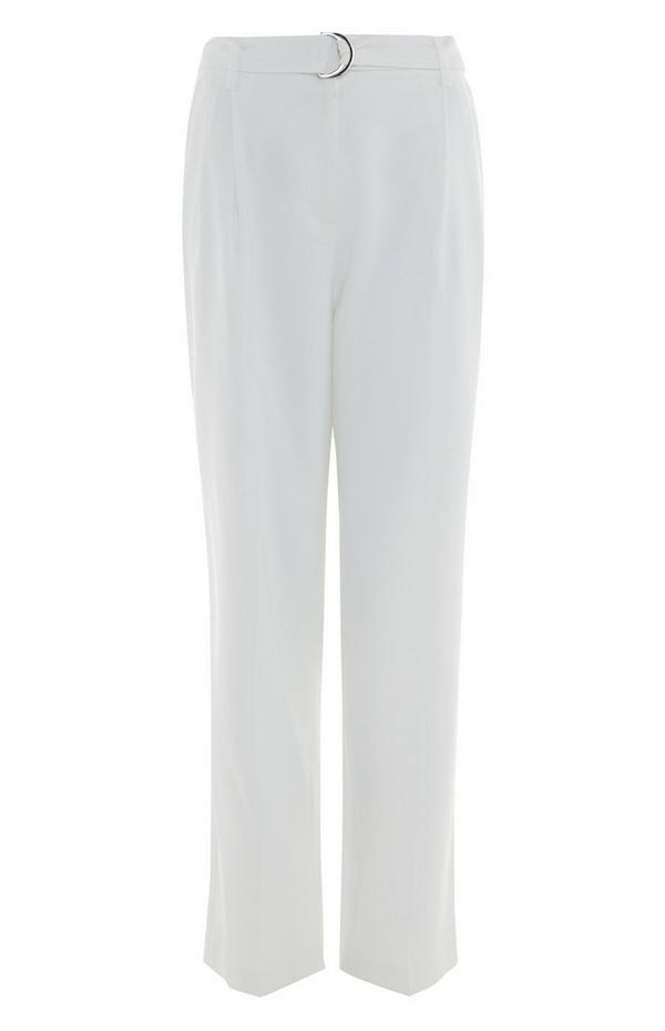 Bele ohlapne hlače s pasom