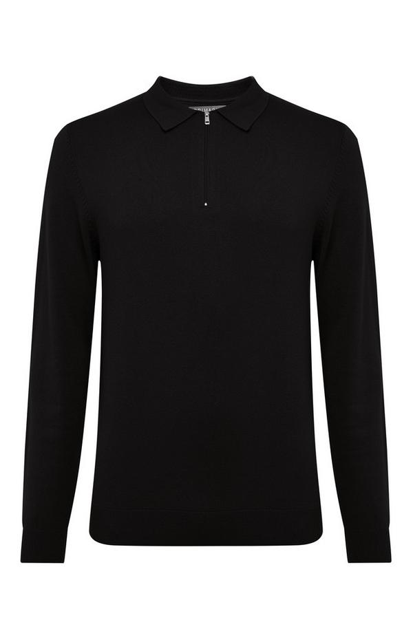 Black Polo Sweater