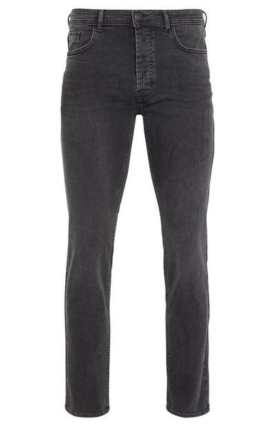 Jeans elasticizzati neri a gamba dritta