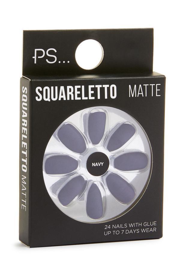Squareletto Matte Lilac Stick On Nails