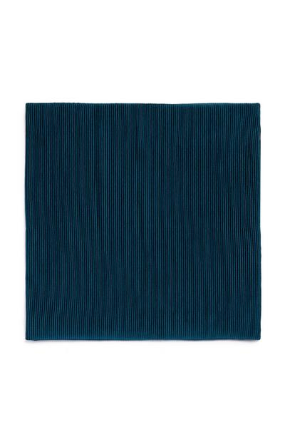 Teal Ribbed Velvet Cushion Cover