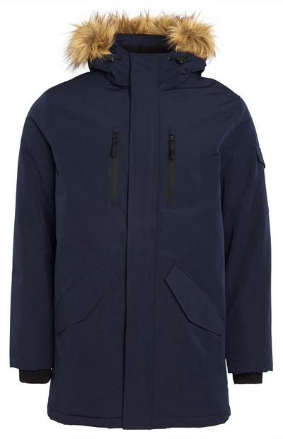 Langer Parka in Marineblau