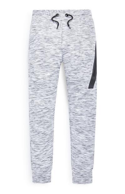 Jogging gris texturé ado