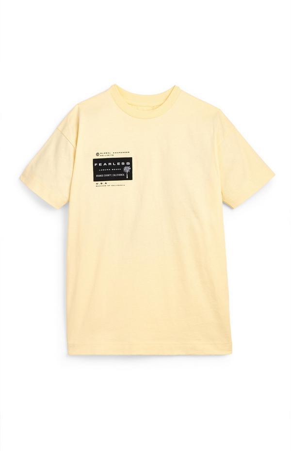Gelbes T-Shirt mit Aufnäher-Print (Teeny Boys)