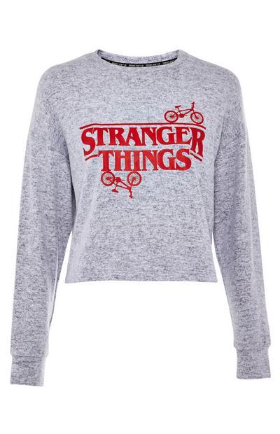 Haut de pyjama gris Stranger Things