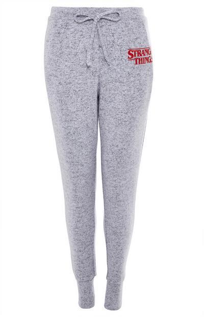 Superzachte grijze pyjamabroek Stranger Things