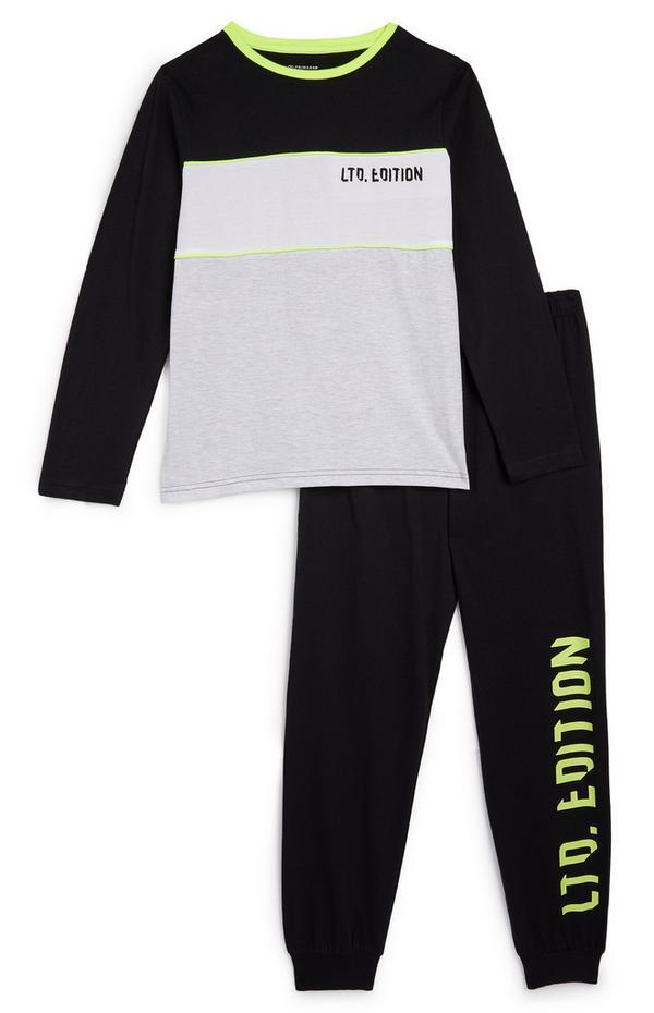 """Anthrazitschwarzer """"Ltd Edition"""" Pyjama (Teeny Boys)"""