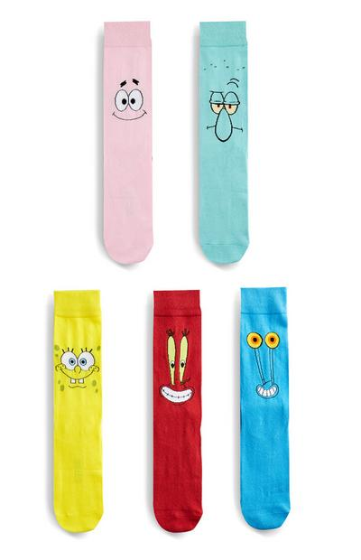 Pack 5 pares meias Spongebob Squarepants