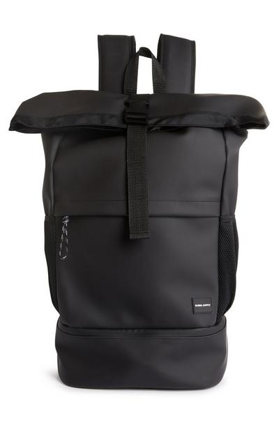 Black Premium Roll Top Backpack