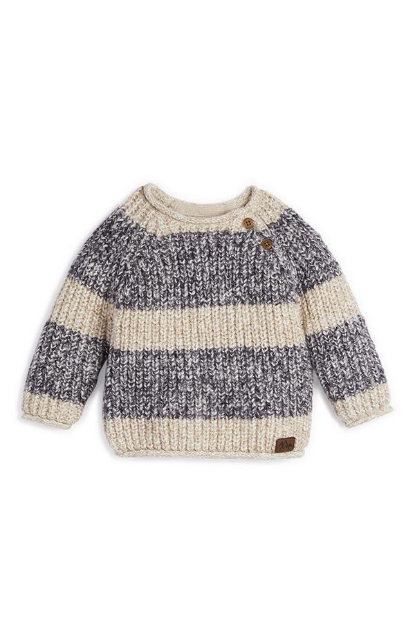 Breit gestreifter Pullover für Babys (J)