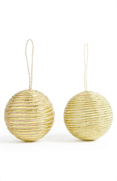 Natural Bauble Decoration 2 pack