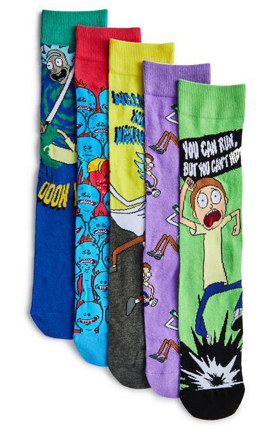 Pack pares meias sortidas Rick And Morty