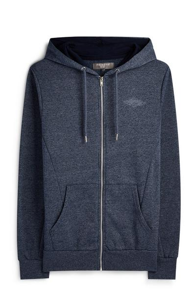 Navy Heather Zip Hoodie