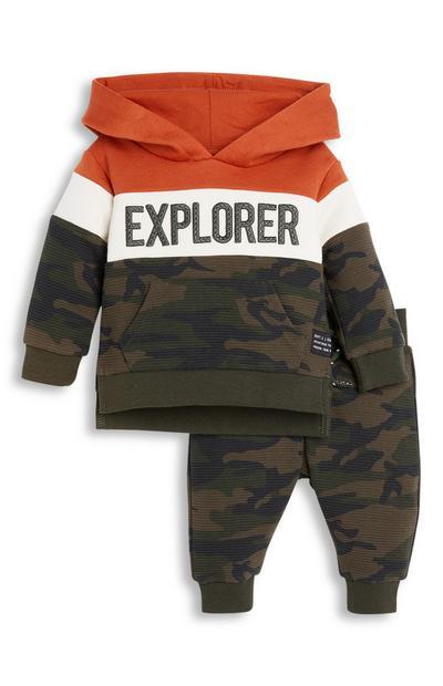 Sweat à capuche Explorer et pantalon de jogging camouflage bébé garçon