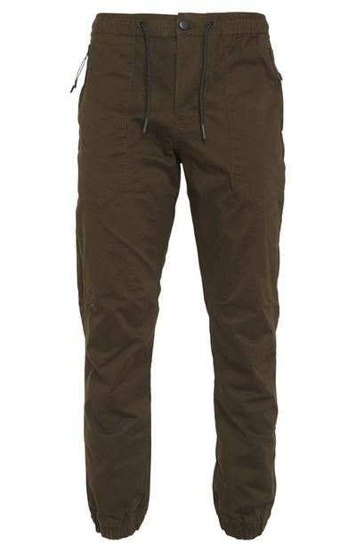 Olive Cuffed Joggers