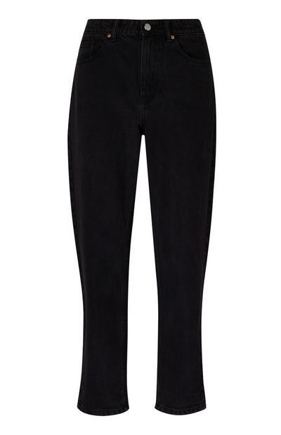 Schwarze Mom-Jeans