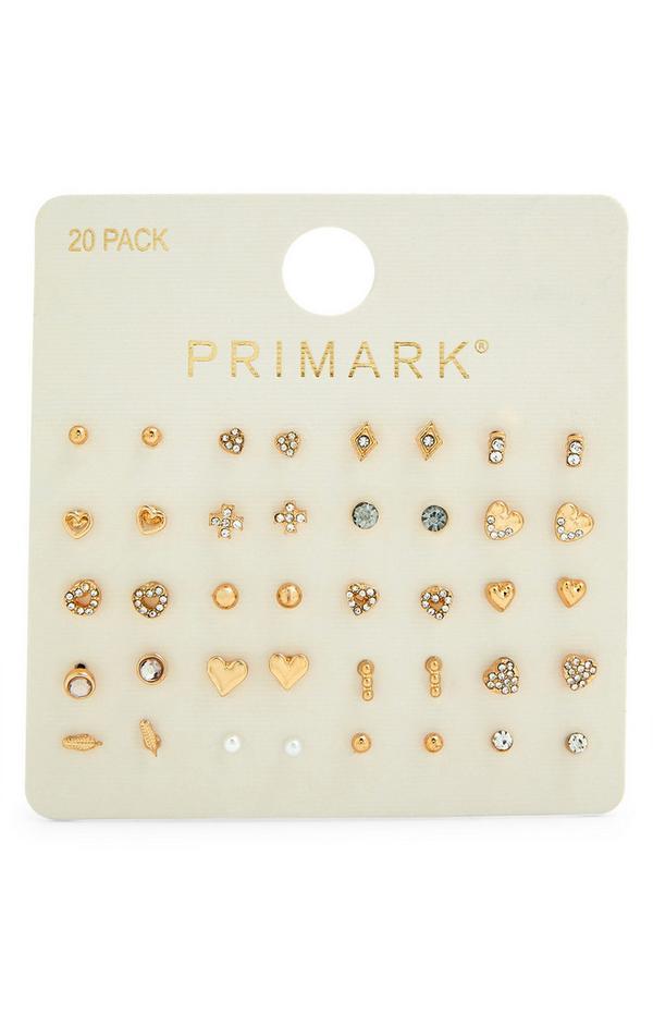 Ohrringe mit Ziersteinen, 20er-Pack