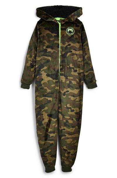 Older Boy Camouflage Sleepsuit