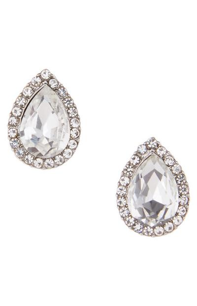 Diamond Teardrop Stud Earrings