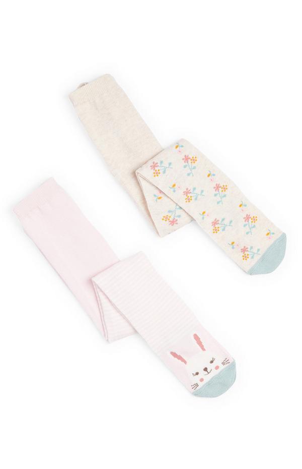 Strumpfhosen mit Häschen für Babys (M), 2er-Pack