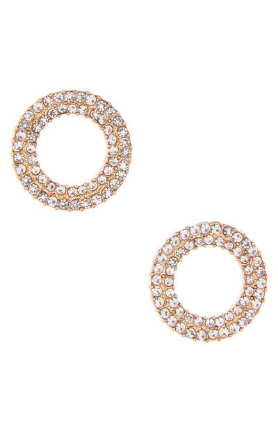 Circular Diamond Stud Earrings