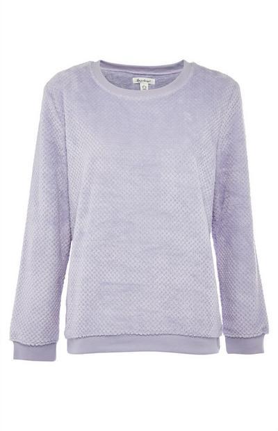 Camiseta polar gris de pijama
