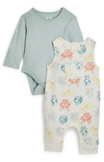 Ensemble salopette Primark Cares Disney bébé