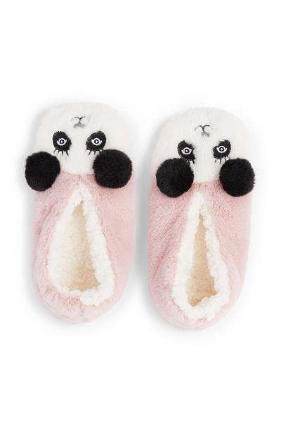 Girls Panda Slippers