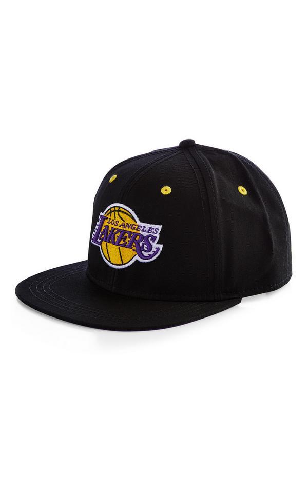 Gorra de béisbol negra de Los Angeles Lakers de la NBA