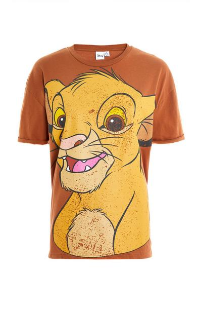Brown Lion King Oversized Simba T-Shirt