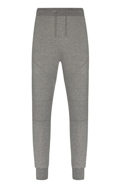 Grey Slim Side Panel Joggers