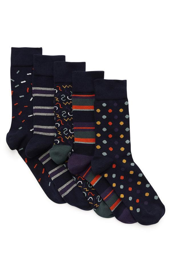 Opvallende sokken met prints, 5 paar