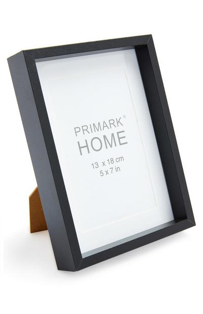 Zwarte fotolijst 13 x 18 cm
