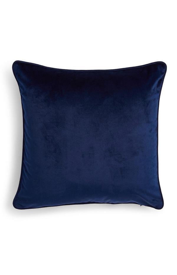 Marineblauer Kissenbezug aus Samt