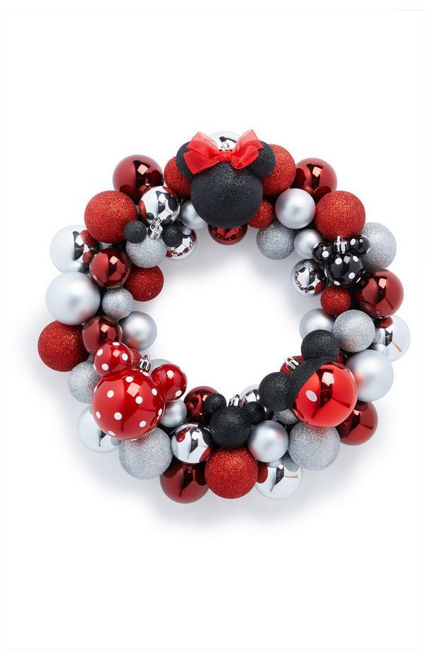 Corona de bolas de Navidad de Minnie Mouse