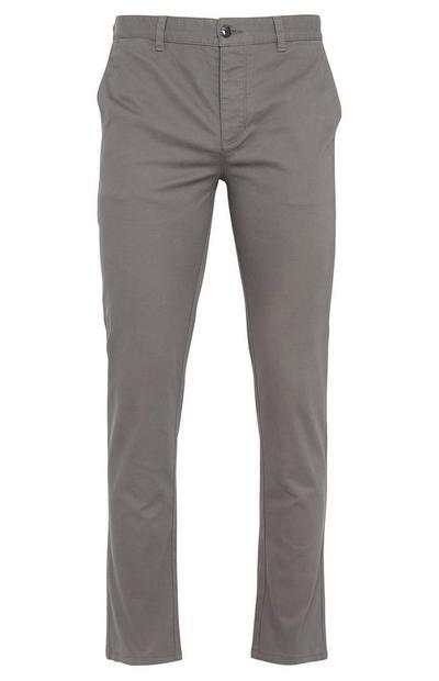 Pantalon chino gris anthracite coupe droite