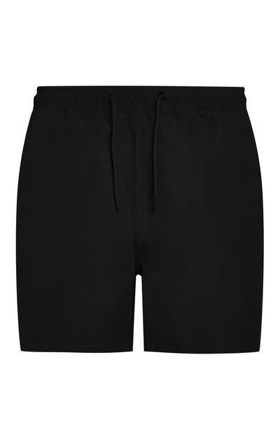 Črne kopalne kratke hlače iz mikrovlaken