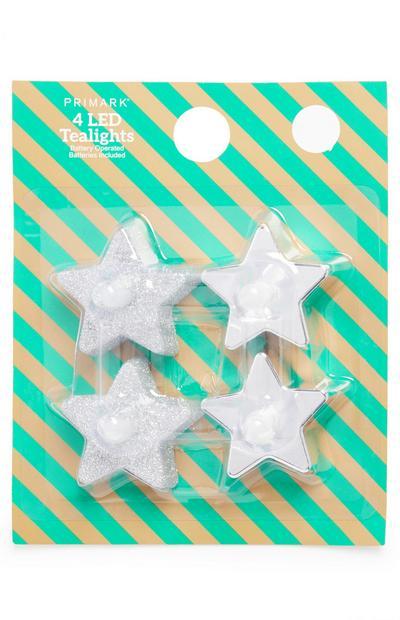 LED Stars 4 pack