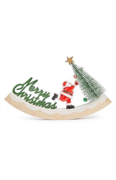 Wooden Swinging Santa