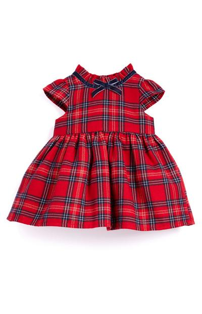 Baby Girl Red Tartan Dress
