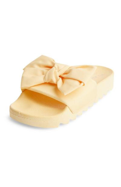Yellow Cleated Bow Sliders
