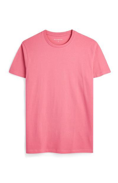 Pink Crew Neck T-Shirts