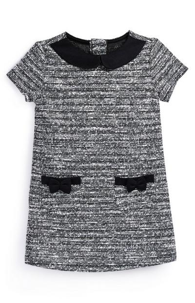 Baby Girl Grey Boucle Knitted Dress